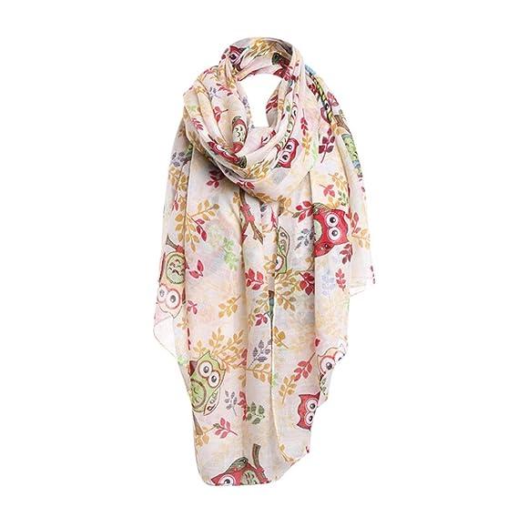 iHPH7 Scarf Women Ladies Owl Print Pattern Lace Long Scarf Warm Wrap Shawl at Amazon Womens Clothing store: