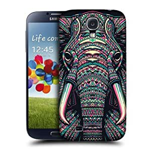 AIYAYA Samsung Case Designs Elephant Aztec Animal Faces Protective Snap-on Hard Back Case Cover for Samsung Galaxy S4 I9500