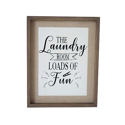 Amazon Com Parisloft Laundry Room Signs Wall Decor Vintage