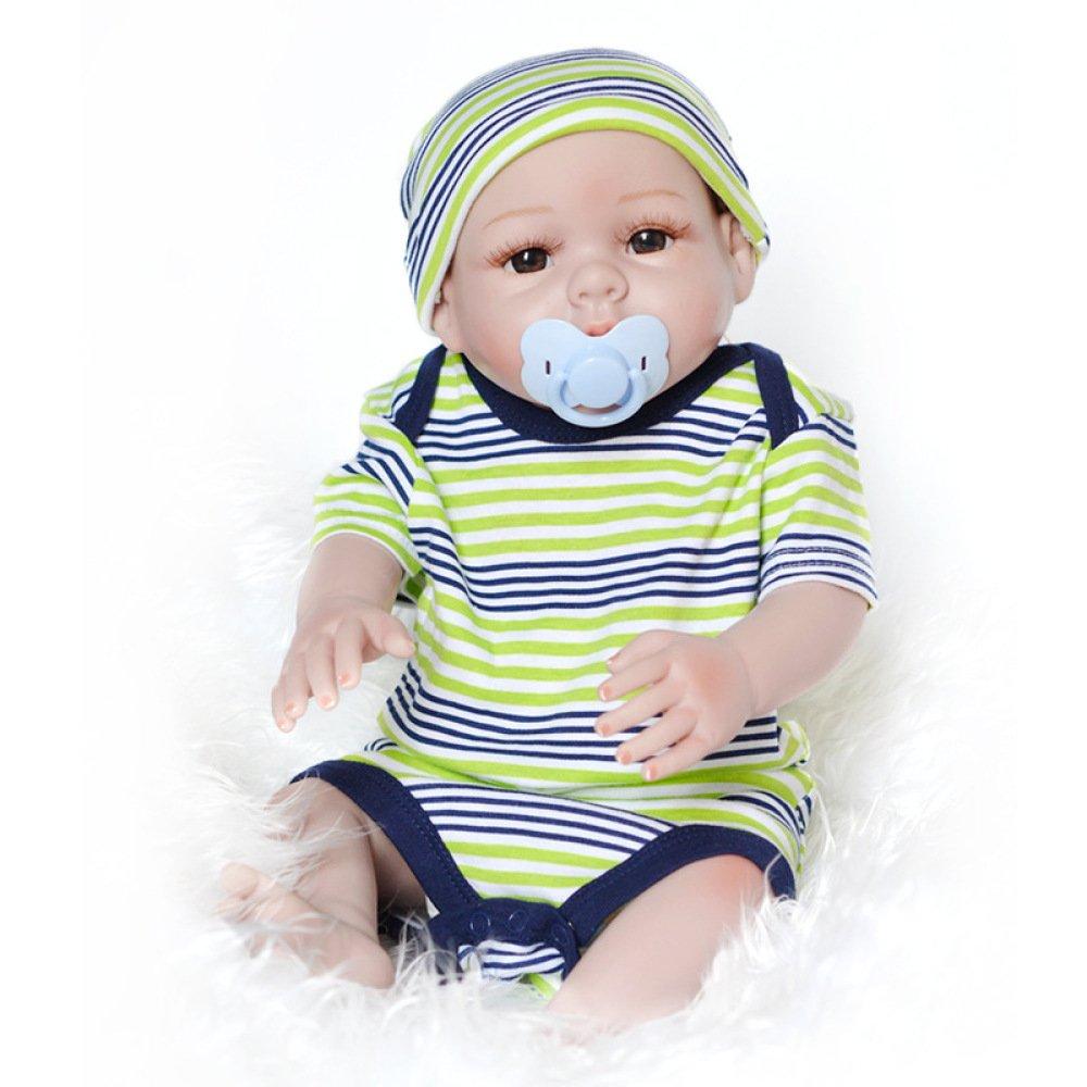 YIHANGG Renacer Muñecas De Bebé Recién Nacido De Vinilo De Silicona Hecho A Mano Muñeca De Bebé Simulación Suave Realista Boca Magnética Regalos De Los Niños Se Puede Lavado 50-55cm