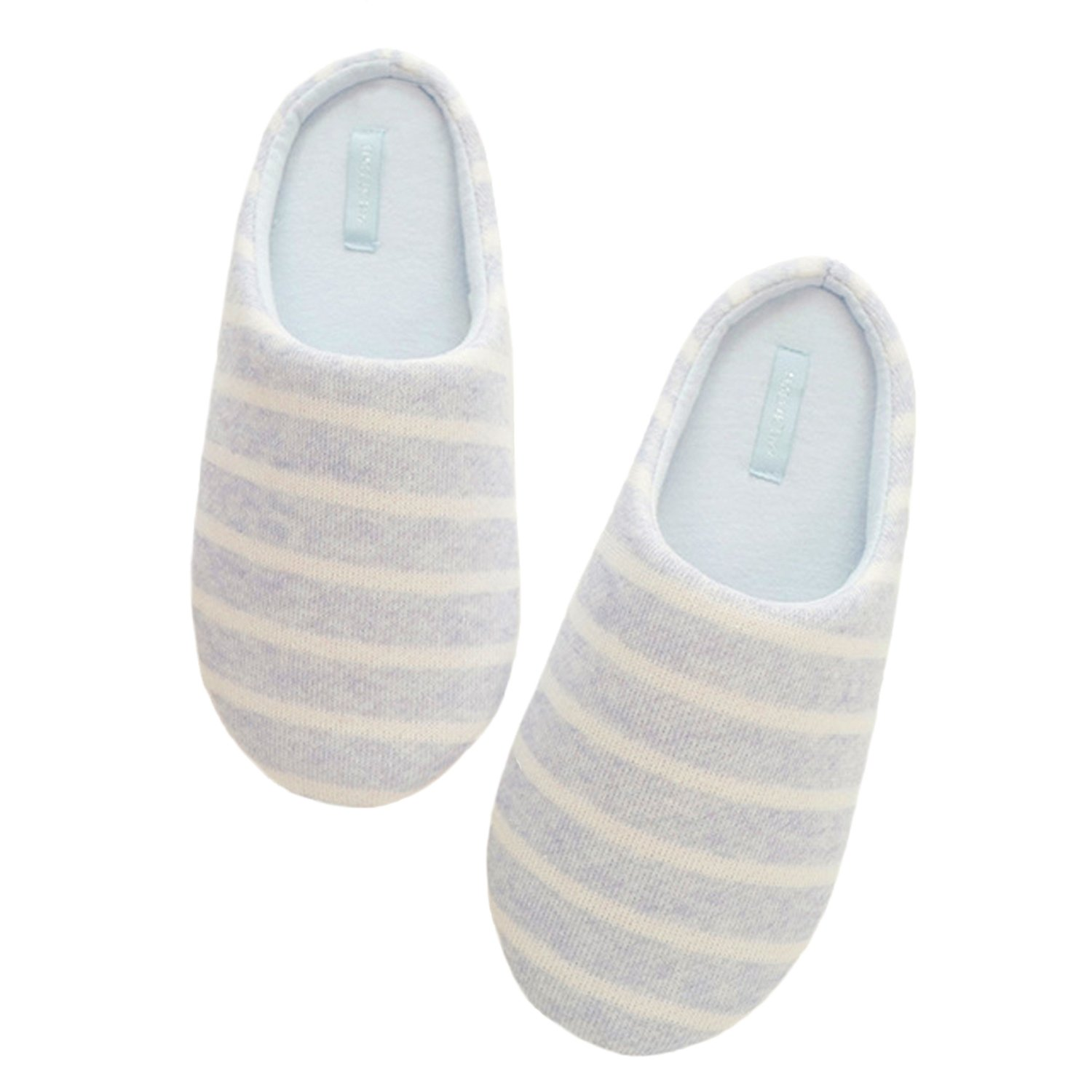 a69ec85fd52d bestfur Women s Concise Stripe Soft Warm Comfortable Mute Home Slippers  85%OFF