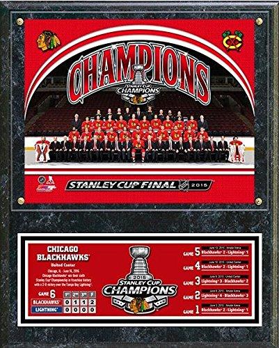 (Chicago Blackhawks 2015 Stanley Cup Champions Plaque (Size: 12