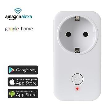 EU Smart Steckdose WIFI WLAN Amazon Alexa Fernbedienung Home Socket Zeitschaltuh