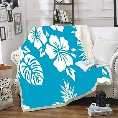 Musesh Christmas Warm Blankets 60X80 Inch Decorative Throw Blanket Hawaiian Shirt Background Pattern Fleece Light Blanket for Kids,Bed,Sofa: Home & Kitchen