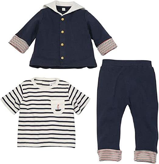 Baby boy Sailor Outfit 3 piece baby suit baby boy suit