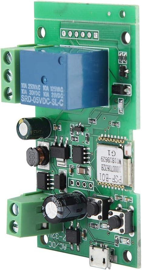 Module de relais WiFi /à commutation automatique /à verrouillage autobloquant /être appliqu/é au contr/ôle dacc/ès DIY WiFi Ouvre-porte de garage interrupteur /à distance app t/él/éphone synchronisation