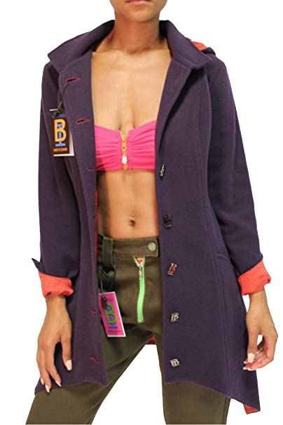 BRUNO IERULLO Women's 100% Italian Wool Fashion Coat (Made