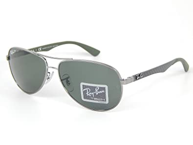 cd4cecc167d Image Unavailable. Image not available for. Color  NewRay Ban Tech RB8313  004 N5 Gunmetal Crystal Grey Polarized Lens 61mm Sunglasses