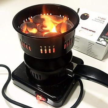 kbxstart - Encendedor eléctrico de carbón de carbón Vegetal Shisha para té, café, Mini Estufa eléctrica Fogao Eletrico: Amazon.es: Jardín