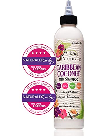 Alikay Naturals Caribbean Coconut Milk Shampoo Natural Nettle, Coconut Milk & Oil 8 Ounce