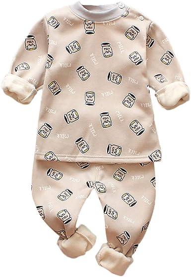 KONFA Toddler Newborn Baby Boys Girls Fall Winter Clothes,Feeding Bottle Print Rompers Cotton Jumpsuit Set