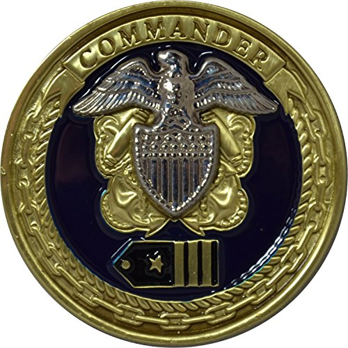 Commander Challenge Coin - US Navy Commander Challenge Coin by Military Productions