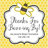 Bumble Bee Baby Shower Stickers or Favor Tags