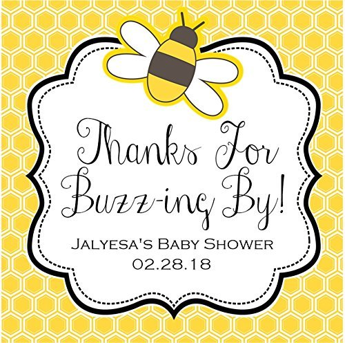 Bumble Bee Baby Shower Stickers or Favor Tags by Party Beautifully