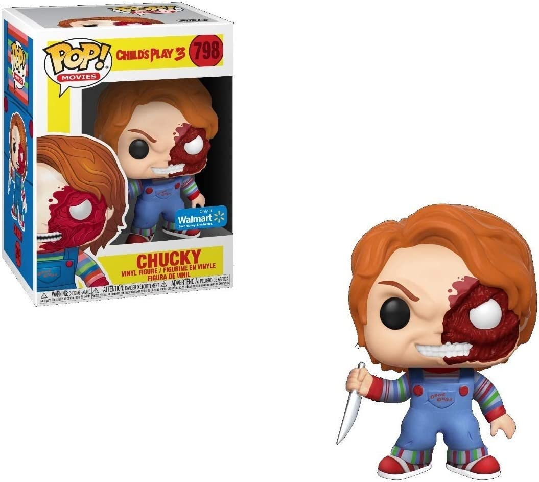 Funko Pop Movies Horror S7 Chucky Half Bd Exc Toys Games