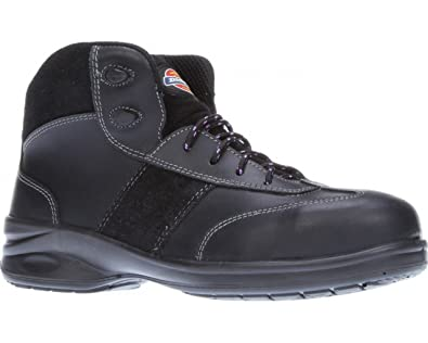 2250333543c Dickies Ladies Safety Boots Work Safety Steel Toe Cap Womens Shoes  Lightweight Leather Velma Size FD9213 UK 3-8 Black