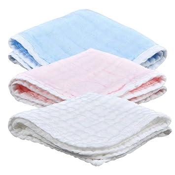 perfecthome 3 Pack toallitas para bebés, pañuelo Cuadrado pañuelo Peinado Ultra toallitas para bebés 100