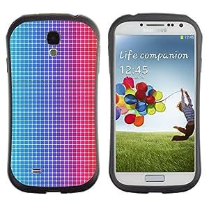 Paccase / Suave TPU GEL Caso Carcasa de Protección Funda para - Disco Dots Illusion Fabric Pattern Blue Red Led - Samsung Galaxy S4 I9500