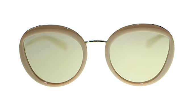 cdcec29e20efc BVLGARI Round Women s Sunglasses BV8191 11215A Beige Light Brown Mirror  Gold Lens 52mm