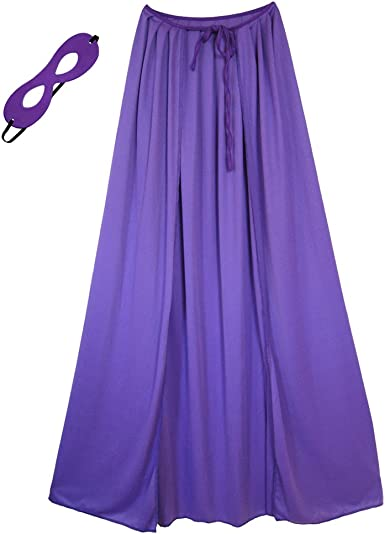 "39/"" Adult//Teen Purple Superhero Cape /& Mask Costume Set ~ HALLOWEEN COSTUME"