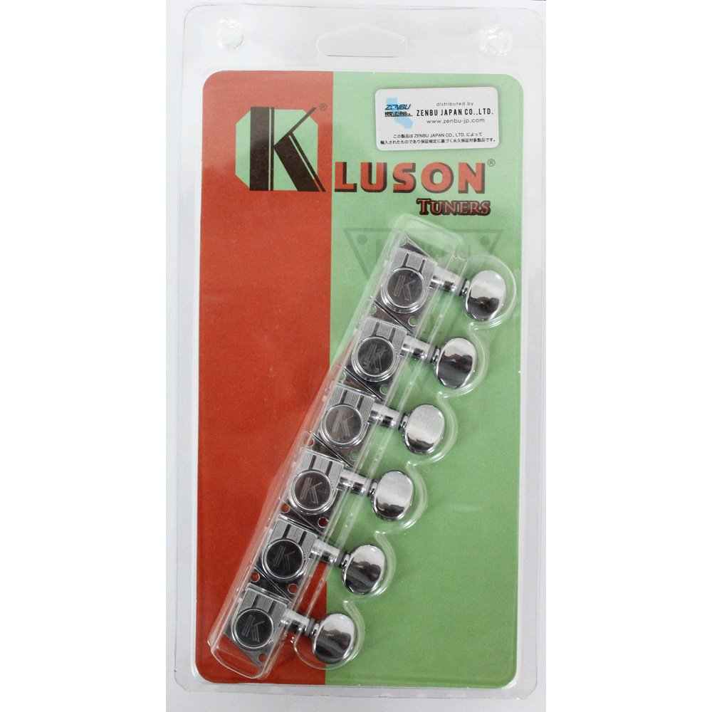 KLUSON 6 in Line/MB/Chrome/F-MOUNT ギターペグ   B00JLR9NK6