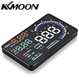 "KKmoon Car HUD 5.5"" Large Screen Auto Car HUD Head Up Display KM/h & MPH Speeding Warning Windshield Project System with OBD2 Interface Plug & Play"