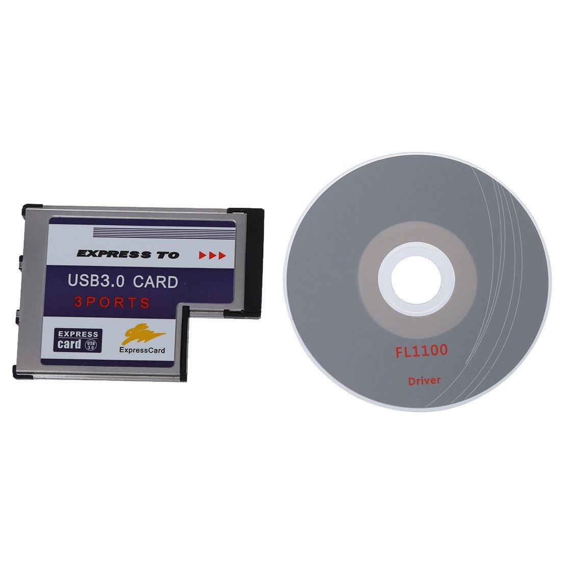 3 USB 3.0 puerto expreso Tarjeta 54mm PCMCIA Express Card para el ordenador portatil NUEVO R TOOGOO