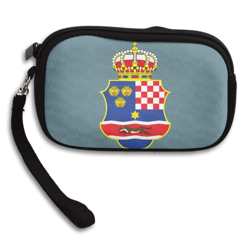 Coat Of Arms Of The Kingdom Of Croatia Deluxe Printing Small Purse Portable Receiving Bag by KIBGqw (Image #1)