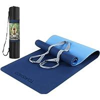 TOMSHOO TPE gymnastikmatta, halkfri miljövänlig yogamatta träningsmatta, hudvänlig ftalatfri träningsmatta för yoga…