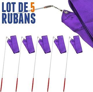 NetJuggler Lot de 5 Rubans de GRS 4 mètres Violet