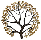 Autumn Tree Gold Brown Photo Holder | Wall Mounted Iron Card Memo