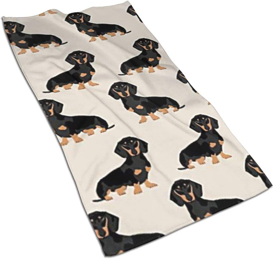 Wiener Dog Fabric Doxie Dachshund Weiner Dog Pet Dogs Kitchen Towels ¨C 17.5X27.5in Microfiber Terry Dish Towels for Drying Dishes and Blotting Spills ¨CDish Towels for Your Kitchen Decor