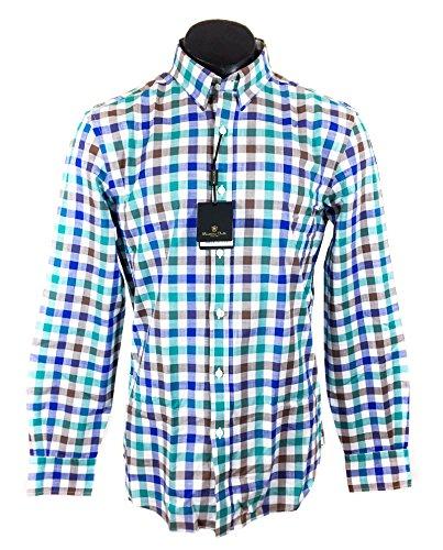 Massimo Dutti Homme Chemise à carreaux multicolore slim fit 0140/129