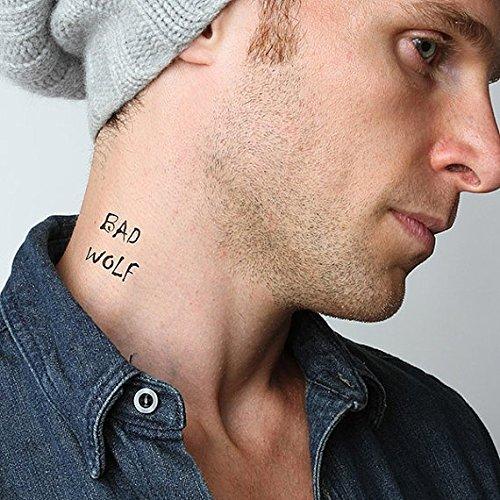 Amazon Com Tattify Bad Wolf Temporary Tattoo Who S Afraid Set