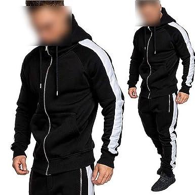 2019 Men Hoodies Sets Chándales Outwear Zipper Sportwear Sets ...