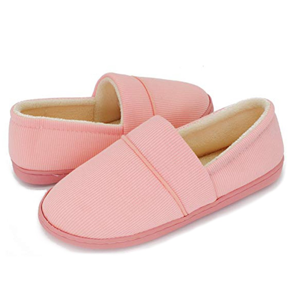 01Pink Moodeng Women's Slippers Anti-Slip Lightweight Soft Cotton Slippers Slip-on House shoes