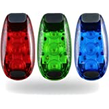 LED Safety Light Clip on Strobe Running Light for Runners Kids Dogs Cycling Walking and Jogging Accessories, Best Flashing Reflective Gear Dog Collar LED Lights, Free Bonuses (3 Pack)