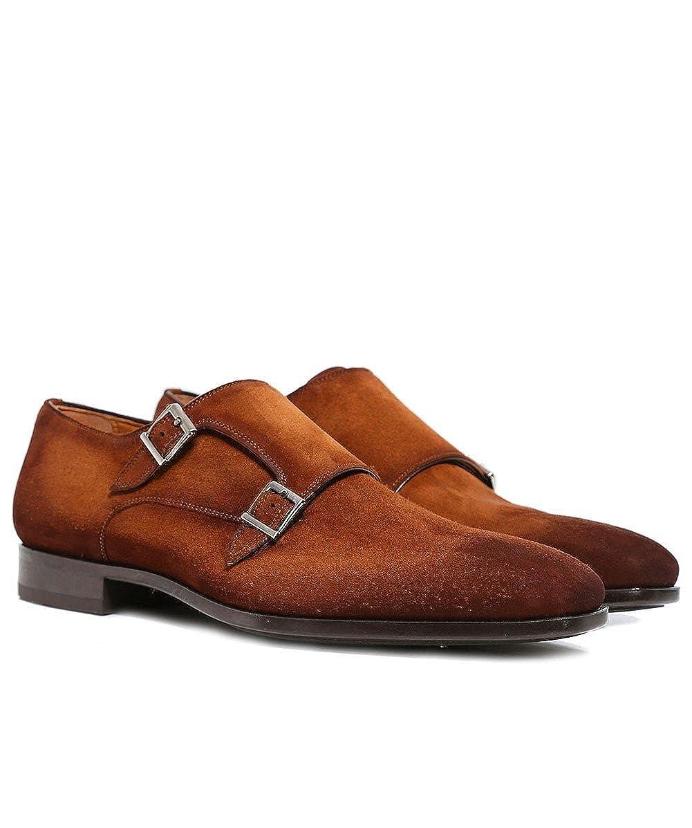 Magnanni Hombres Zapatos de Correa Doble Monje Norden Coñac