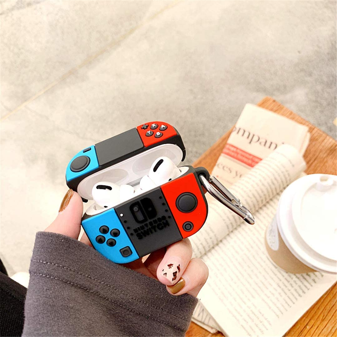 Cute Cartoon Fun Funny 3D for Kids Girls Teens Boys Cover Cool Stylish Fashion Soft Silicone Character Shockproof Airpod Skin Cases for Air pods 3//Pro Joyleop Switch Case Compatible with Airpods Pro
