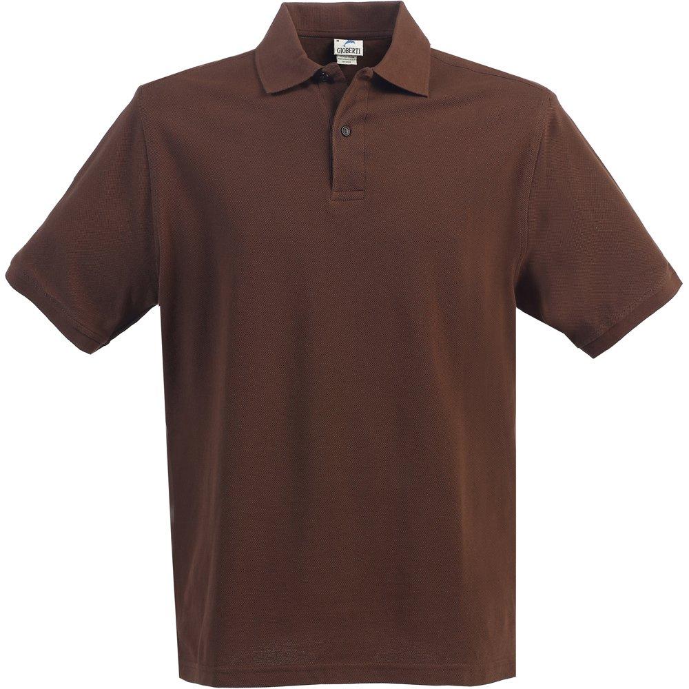 Little Kids Unisex Brown Short Sleeve School Uniform Polo Shirt 6