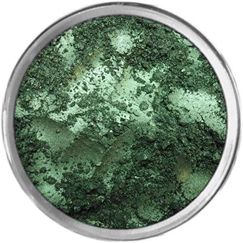 Deep Emerald Loose Powder Mineral Shimmer Multi Use Eyes Face Color Makeup Bare Earth Pigment Minerals Make Up Cosmetics By MAD Minerals Cruelty Free - 10 Gram Sized Sifter Jar