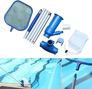 TIDCACO Pool Handheld Vacuum Cleaner Jet, Portable Pool Maintenance Kit, Swimming Pool Cleaning Tool Sets for Pool, Pond, Fountain Cleaning, for Leaves/Dirts/Insects
