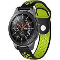 Samsung Galaxy Watch 42mm/46mm Wristband Replacement Double Colored Silicone Watch Band Wrist Strap Sport Accessory