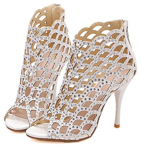 2016 Hot Sale Men Fashion Zipper Sneakers (White) - 1