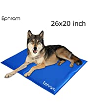 Ephram Pet Dog Cooling Gel Mat Pad, Dogs Cat Self Chilly Cold Ice Mats Pets Puppy Chill Cool Pads Cats Cooler Pillow Sleeping Mat Bed Blanket Folding Soft Summer Heat Dissipation Dog Pads Perfect For Floors Couches Car Seats Pet Beds Cushion Sofa( 65*50CM )