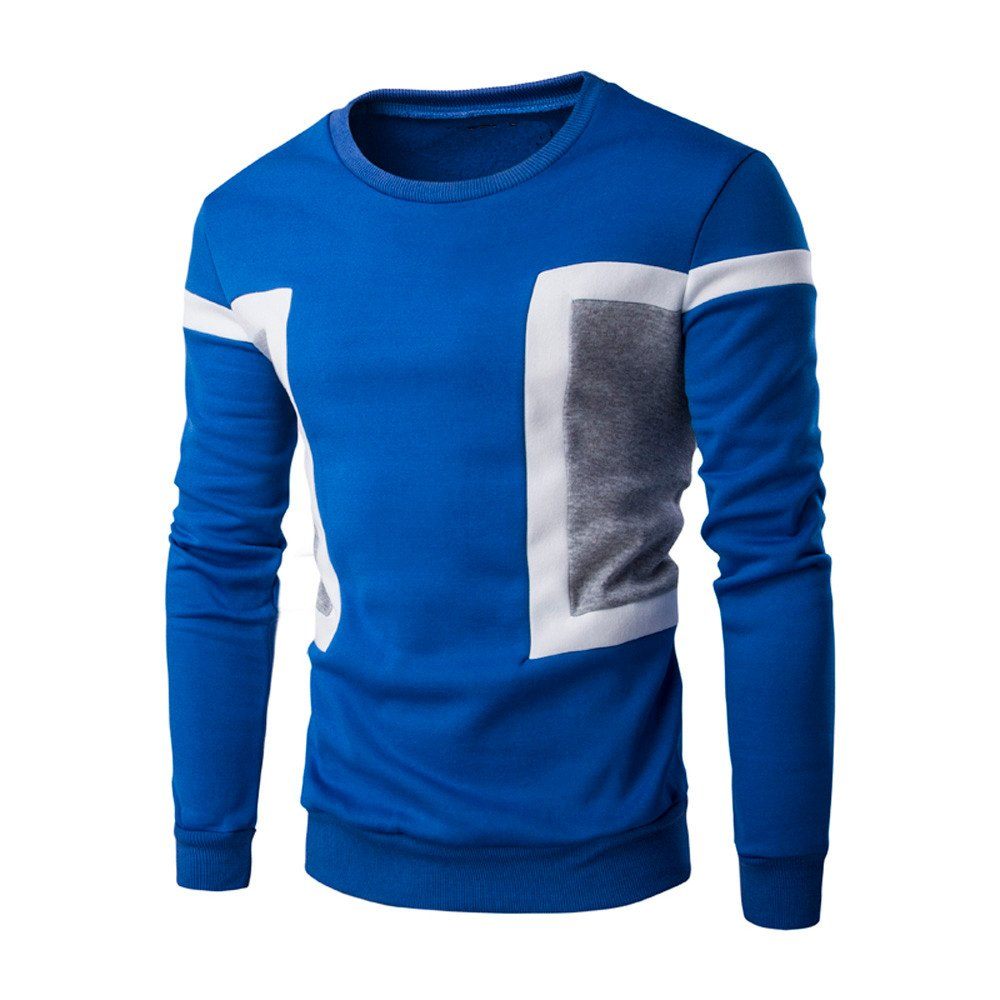 Siviki Mens Long Sleeve Patchwork Hoodie Fashion Hoodies Sweatshirts Tops Jacket Coat Outwear