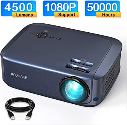 Video Proyector, 4500 lúmenes 1080P LCD Proyector Full HD con una ...