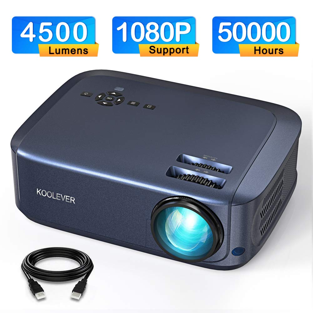 Video Proyector, 4500 lúmenes 1080P LCD Proyector Full HD con una ...