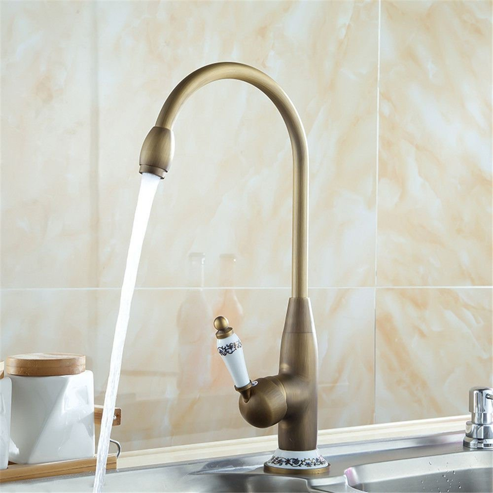 NewBorn Faucet Wasserhähne Warmes und Kaltes Wasser Guter Qualität Alle Kupfer Antike Küche Wasser Spüle Wasserhahn antiken Tisch Waschbecken Kaltes Wasser Wasser Tippen Sie auf
