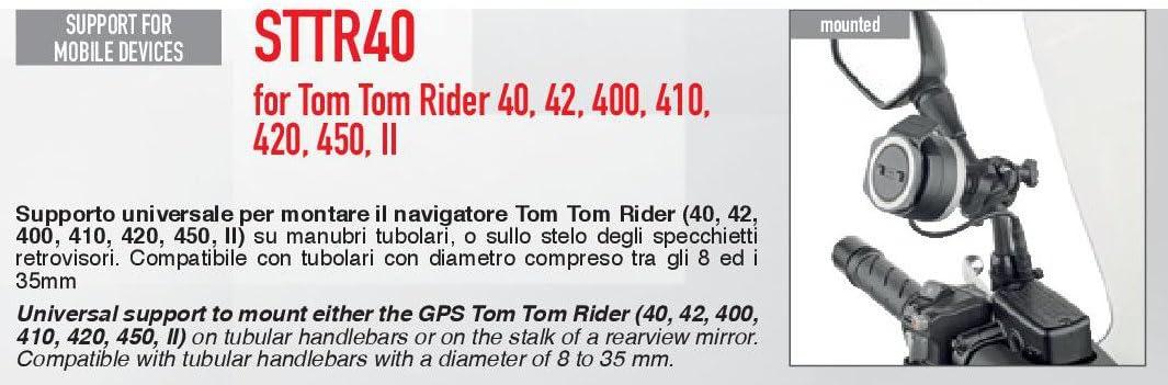 Givi Sttr40 Mount For Tomtom Rider 40 400 Auto